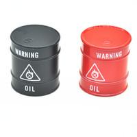Wholesale D Shape - New Funny Oil Tank Shape Grinder -3 part Metal Grinder D.40mm Herb Grinder Tobacco Crusher