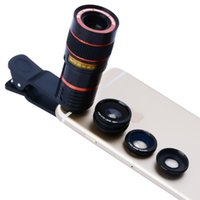 Wholesale Camera Lens For S4 - Portable Mobile Phone Telephoto Lens 8x Zoom Optical Telescope Camera Lenses for iPhone 4 5 6 Plus Samsung S3 S4 S5 Note 4 5 6