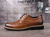 Wholesale Leather Mr B - Luxury Pra Mens Italian Business Shoes Cow Genuine Leather Office Career Dress Wedding Oxfords Mr Shoes Size 40-44