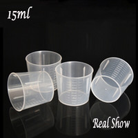 Wholesale Wholesale Clear Plastic Cups - Measuring cup 15ml,wholesale food grade measuring cup,PE small clear cup,100pcs lot measuring cup
