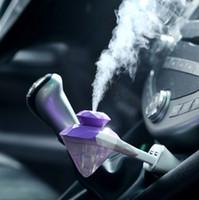 taşınabilir elmas ışıkları toptan satış-Araba USB Nemlendirici Taşınabilir kullanım Iki-in-one USB mini araba parfüm elmas renkli gece lambası nemlendirici Araç aile açık nemlendirici