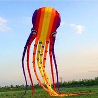 ingrosso gli aquiloni di stunt liberano il trasporto-spedizione gratuita 3D 23m grande octupus flame nylon aquilone 1 Line Stunt outdoor toy