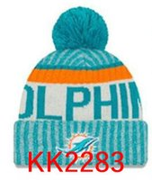 Wholesale Dolphins Hat - New Fashion Unisex Miami Winter Dolphins Hats for Men women Knitted Beanie Wool Hat Man Knit Bonnet Beanie Gorro Warm Cap