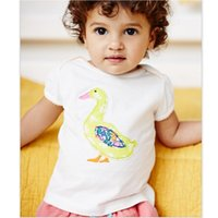 Wholesale Duck Dress Baby Girl - Baby Girls Clothes Duck T-Shirts Short Sleeve Fashion Girls Dresses Jumpers Outfits Summer kids tops polo shirt