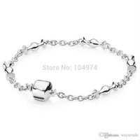 Wholesale Bangle 18 - New 22 New Fashion! Wholesale Moments Charm Bangle 925 Silver Bracelet Fit European Charms Beads 18-22CM Length Free Shipping New New22 New