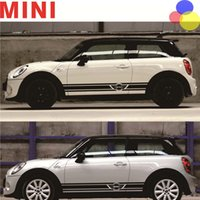 Wholesale Bmw Retrofit - For BMW MINI Car Body Sticker Mini Cooper Universal Retrofit Special Stickers Lahua Side Skirts Free Shipping