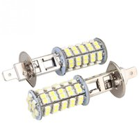 Wholesale H1 Led 68 - Arrival Car H1 68 SMD LED Pure White Fog Beam DRIVING Head Light Lamp Bulb 12V New Free Shipping