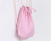 простой холст рюкзак оптовых-Новые девушки Эко холст шнурок рюкзак пустой равнина организатор рюкзак путешествия спортивные сумки Сумка для мужчин женщин дети DIY подарок ремесла сумки