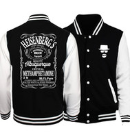 heisenberg hoodie UK - Wholesale- Hot Sale Breaking Bad Heisenberg Men Jacket 2017 Spring Baseball Uniform Jackets Men Coat Fashion Slim Fit Hoodies Men S-5XL