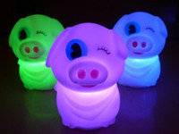 Wholesale Mcdull Pig Wholesale - Lowest price sell McDull pig colorful Nightlight Nightlight monocular cute pig LED free shipping 10pcs lot