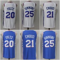 2017 No.1 Draft Piack Basketball # 7 Markelle Fultz Jersey College Cheap Stitched # 25 Ben Simmons # 21 Joel Embiid # 8 Jahlil Okafor Jerseys