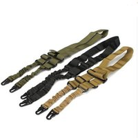 Wholesale nylon gun sling for sale - Nylon Multi function Adjustable Two Point Tactical Rifle Sling Hunting Gun Strap Outdoor Airsoft Mount Bungee System Kit