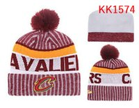 Wholesale Rhinestone Hats For Women - New Fashion Winter CLE CAVS basketball Hats for Men women Knitted Beanie Wool Hat Man Knit Bonnet Beanies Gorro Warm Cap