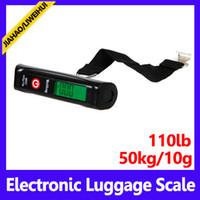 Wholesale Shipping Scale Lbs - wholesale Mini digital hook scale units: g Kg Lb OZ 50 pcs lot free shipping