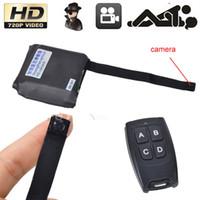 Wholesale Mini Hd Cctv Spy Camera - HD 1280*960 MINI module Camera Hidden pinhole camera DVR with Remote Control CCTV Security Camera Spy DIY camera With 3000mah battery X2