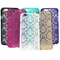 Wholesale Artistic Luxury - Luxury For iphone5 6 Case Hollow Out Dream Catcher Colorful Carving Artistic Palace Hard Plastic Cover Case Vintage Flower Pattern Fashion