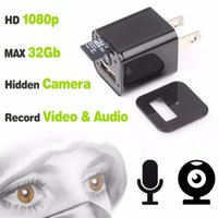 Wholesale Usb Camera Microphone - ScoutOut USB Charger Camera Wall Adapter 1920*1080P 8GB Nanny Spycam Gear with Microphone Equipment mirrorless system