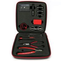 Wholesale coil master tool kit for sale - Group buy RDA DIY Tools Kit Rebuildable Vapor Master Kits Ohm Meter Kuro Koiler Coil Jig Kbag for Mods RBA Atomizer Coils DHL