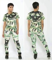 Wholesale Womens Sexy Pants Suits - 2016 Womens Sexy Tracksuits Two piece Pants Sets Tops Jogger Pants Sets Sports wear Fashion Sports Camouflage Clothing Long Sleeved suits