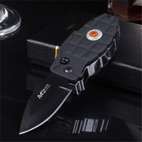 Wholesale Knife Windproof Lighter - Windproof lighters inflatable grenade torch re-use cigar knife 2 in 1 lighters