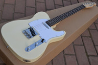 Wholesale Cream White Guitar - Custom Shop Deluxe Tele Caster TL Cream White Blonde Electric Guitar Free Shipping String Thru Body