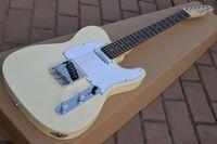 tl gitarrenkörper großhandel-Custom Shop Deluxe Tele Caster TL Creme Weiß Blonde E-gitarre Kostenloser Versand String Durch Körper