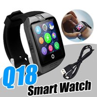 Wholesale Packaging Gsm - Q18 Smart Watchs Bluetooth whatsapp Smartwatch For Android Phone High Quality Support SIM Card GSM Facebook DHL with Retail Package