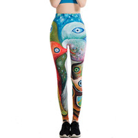 caricaturas japonesas sexy al por mayor-Japanese Harajuku Totoro Print Leggins Push Up Fitness Sexy Cartoon 3D Graffiti Mujeres Casual Divertido Fitness Leggings WAIBO BEAR