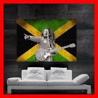 Wholesale Marley Wood - Bob Marley Mega Wall Poster Art Print Live show Raggae print wall art 8 parts giant huge free shipping NO548