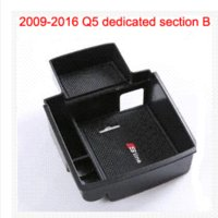 Wholesale Oil Audi A4 - Car organizer stowing tidying central armrest storage box for audi a3 a4 a5 s5 q3 q5 accessories car styling hatchback sedan