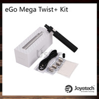 Wholesale Ego Twist Kit Black Wholesale - Joyetech eGo Mega Twist+ Kit 2300mah 4ml Cubis Pro Atomizer 2300mah eGo Mega Twist + Battery VW and BYPASS Modes 100% Original
