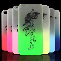 Wholesale I Glow Cases - 1PC Bumper Frame With Matte Skin Glow In The Dark Case Cover for i Phone 5 5S