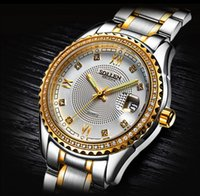 Wholesale Usa Presents - USA business gift wrist watch for men top luxury brand designer diamond stainless steel mens watches present boxes date quartz wristwatch