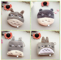 Wholesale Totoro Plush Pencil Case - Wholesale-AB46 1X Cartoon Cute Kawaii My Neighbor Totoro Plush Key Holder Pen Bag Storage Case Wallet