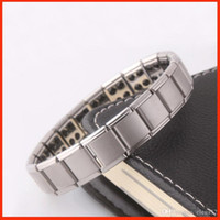 Wholesale Ge Bracelets - Health bracelets magnetic GE power titanium steel Magnetic Energy 80 Germanium Power Bracelet energy Balance bangles BY DHL 160816