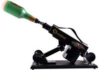 metralhadora automática grande do sexo venda por atacado-Luxo Automático Sex Machine Gun Set para Homens e Mulheres Máquina de Foder com Copo Masculino Masturbação e Grande Dildo Sex Toy A6
