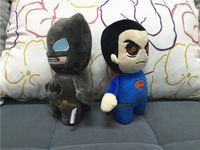 Wholesale Superman Bear Teddy - Kids Batman Plush Toys Cartoon Stuffed Animals 20cm Superman Soft Doll Movie Character Doll 100pcs
