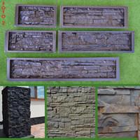 Wholesale Garden Concrete - High Quality 5 Pieces  Lot Plastic Molds For Concrete Plaster Wall Stone Tiles Brick Maker Mold For Garden Decoration