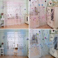 1Pc Balloon Tulle Voile Door Window Curtain Drape Panel Sheer Scarf Valances Sheer Curtains E00618