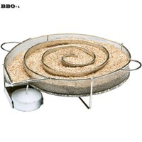 Wholesale Cooking Grilled Fish - BBQ Accessories Cold Smoke Generator For 304 Stainless steel Barbecue Grill Cooking Tools Bacon Cold Smoking Meat Fish Salmon 22cm