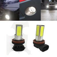Wholesale H11 Plug - 2 pcs H8 H11 12V 10W LED Car Light Bulb White 6000K LED Bulb High Power Fog Lights Driving Lamps Universal LED Lamp Plug and play