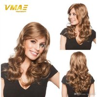 New Style Beautiful Lady Hair Wigs Factory Vendas diretas Straight to Loose Wave Mulheres Cabelo Peruca Sintético Cabelo Humano Para Cosplay