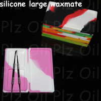 Wholesale bho butane resale online - Electronic cigarette accessories Non stick large Silicone waxmate Containers For Wax Bho Oil Butane jar Silicon Jars Dab Wax Container