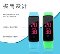 Wholesale Free Couple Wristbands - free shipping whilesale Touch LED watch fashion jelly watch waterproof couple watches student electronic watches Children Wristband