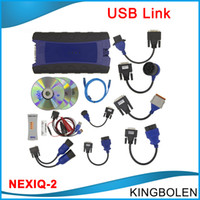 Wholesale Diagnostic Tools Trucks - 2016 NEXIQ USB Link Diesel Truck Diagnostic Tool With Full Set NEXIQ 2 USB Link With Software Heavy duty truck scanner DHL Free Shipping