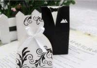 Wholesale Candy Box Bride - 50 Pcs Wedding Favor Holders Linen Gift Pouches 7 styles choose Candy Chocolate Present Gift Guess Pouches Brides And Bridals