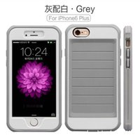 """Wholesale Silver Dust Plug - Soft Silicone TPU 2 in 1 Hard PC Frame Heat Radiating Cooling Cover Case For iPhone 6 6S Plus 4.7"""" 5.5"""" With Dust Plug Free DHL 30pcs"""