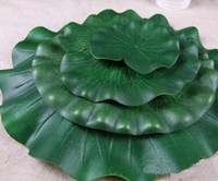 Wholesale Home Decoration Fish - New Novelty Green Artificial Lotus Flower Leaf For pool Home Pond Fish Tank Lotus Leaves Leaf Decor Party garden Decorations