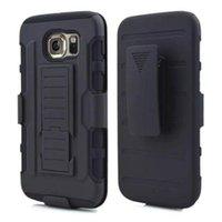 kılıf s6 kenar artı toptan satış-Note5 Zırh Darbe Hibrid Hard Case Kapak Ile Kemer Klipsi Kılıf Darbeye Samsung Galaxy S6 Kenar S6 Note5 Iphone 6 Artı 5