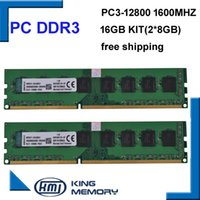 Wholesale Desktop 16gb - free shipping desktop DDR3 16gb 1600Mhz 16GB (Kit of 2,2X ddr3 8GB) PC3-12800 Brand New work longdimm desktop